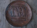 SUPERBĂ! FARFURIE F. VECHE DIN CUPRU GRAVAT - SCENĂ BABILONIANĂ - NABUCODONOSOR!