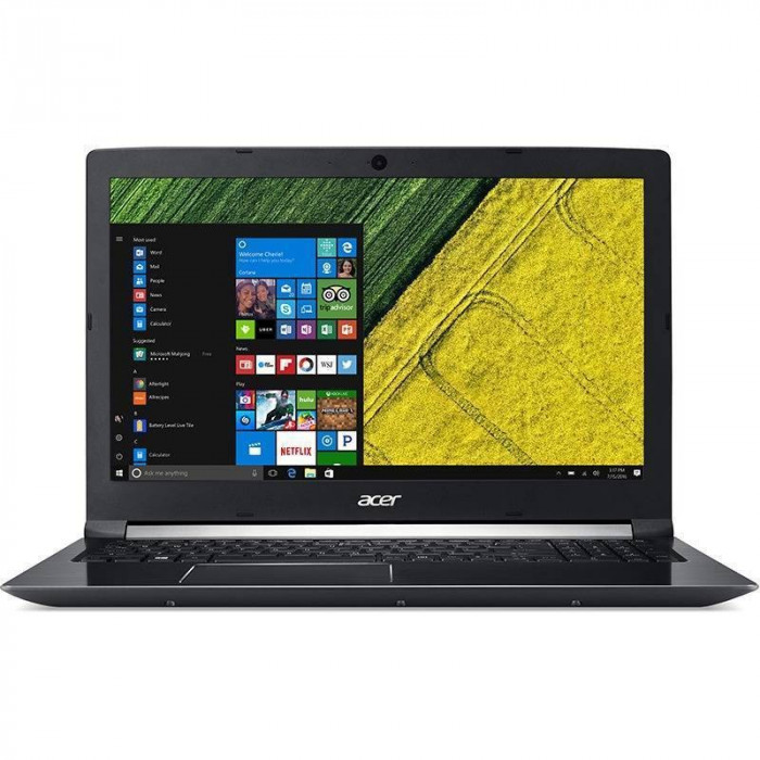Laptop Acer Aspire 7 A715-71G-541M 15.6 inch Full HD Intel Core i5-7300HQ 4GB DDR4 1TB HDD nVidia GeForce GTX 1050 2GB Linux Black