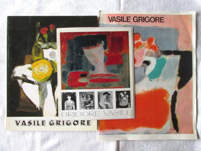 VASILE GRIGORE Album pictura + doua pliante expozitii 1968 si 1978 foto mare