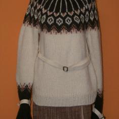 Pulover nulticolor Patrizia Pepe marimea 44 - Pulover dama, Marime: M/L, Culoare: Multicolor, Helanca pe gat, Lana