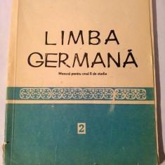 Limba germana - Manual pentru anul II de studiu, 1990 - Curs Limba Germana