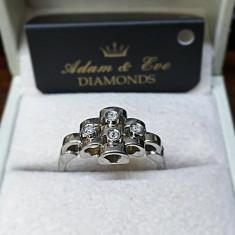 Inel Aur Alb 18k cu Diamante - 0.12ct. - Inel diamant
