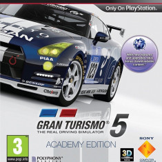 Gran Turismo 5 Academy Edition - PS3 [Second hand] fm, cod - Jocuri PS3, Curse auto-moto, 3+, Multiplayer