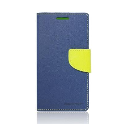 Husa Apple iPhone 6/6S Mercury Fancy Diary Bluemarin-Lime foto