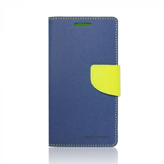 Husa Apple iPhone 6/6S Mercury Fancy Diary Bluemarin-Lime foto mare