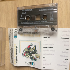 Alexandru andries albumul alb caseta audio muzica folk rock blues zone records, Casete audio