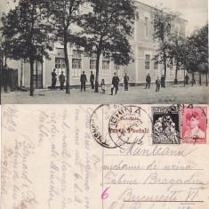 Basarabia, Moldova -Tighina, Bender-Liceul - rara - Carte Postala Moldova 1904-1918, Circulata, Printata
