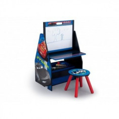 Set 2in1 organizator si birou cu tablita si scaun Cars 3 - Masuta/scaun copii