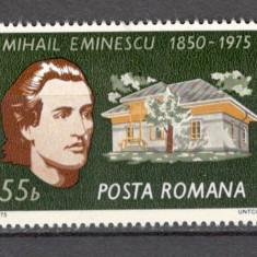 Romania.1975 125 ani nastere M.Eminescu XR.527 - Timbre Romania, Nestampilat