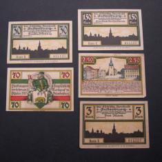Lot 5 bucati notgeld INSTERBURG diferite Germania, Europa