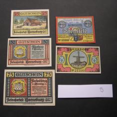 Lot  5  bucati notgeld, gutschein HORNEBURG, SUCHSDORF si STEINFELD diferite #5, Europa