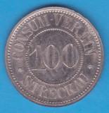 (M1693) JETON GERMANIA - CONSUM VEREIN, STRECKAU DIN SAXONIA - 100 PFENNIG