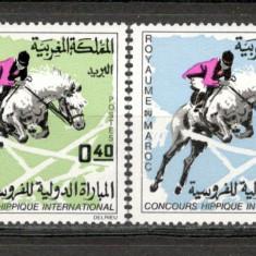 Maroc.1967 Concurs hipic international MM.148 - Timbre straine, Nestampilat
