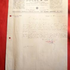 Adresa a Societatii Socec cu antet 1937 - Hartie cu Antet