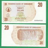 = ZIMBABWE 20 DOLLARS 2006 P-40 UNC  =