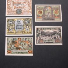 Lot 5 buc. notgeld, gutschein ILSENBURG diferite Germania aUNC 1921, Europa