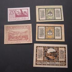 Lot 5 bucati notgeld, gutschein NEUHOFEN, MONDSEE si ZWETTL diferite Austria, Europa