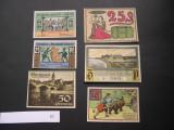 Lot  6 buc. notgeld, gutschein NEUSTADT, STUTTGARD, RINTELN, BLUMENTHAL Germania