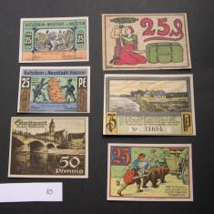 Lot  6 buc. notgeld, gutschein NEUSTADT, STUTTGARD, RINTELN, BLUMENTHAL Germania, Europa