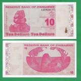 = ZIMBABWE 10 DOLLARS 2009 P-94 UNC  =