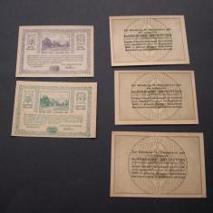 Lot 5 buc. notgeld, gutschein, kassenschein NUSSENDORF si ZWETTL diferite, Europa