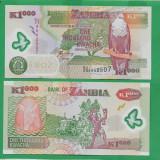 = ZAMBIA 1000 KWACHA 2008 P-44f UNC  =