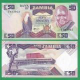 = ZAMBIA 50 KWACHA ND(1986-1988) P-28 UNC    =