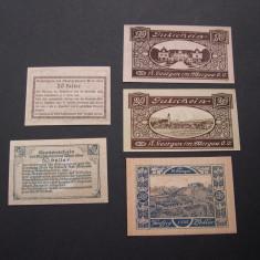 Lot 5 buc. notgeld, gutschein, kassenschein St. GEORGEN i. A. si WIEN Austria, Europa