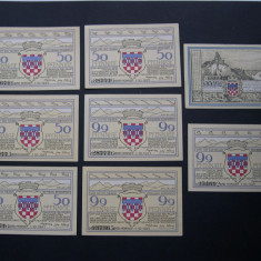 Lot 8 bucati notgeld, gutschein BAD HONNEF am RHEIN diferite Germania, Europa