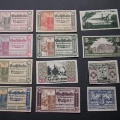 Lot 12 notgeld, gutschein POCHLARN diferite 1920 Austria aUNC, Europa