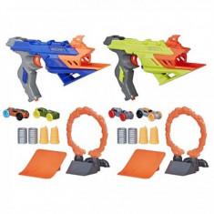 Set 2 lansatoare Nerf Nitro, Duelfury - Pistol de jucarie