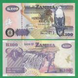 = ZAMBIA 100 KWACHA ND 2005 P-38f UNC  =