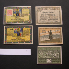 Lot 5 bucati notgeld HOLNIS, HUSUM si WEISENSEE  diferite  Germania aUNC/XF #9, Europa