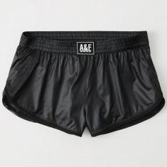 Pantaloni Sport ABERCROMBIE FITCH - Pantaloni Scurti Dama, Femei - 100% AUTENTIC - Pantaloni dama Tommy Hilfiger, Marime: S, M, Culoare: Negru, Trei-sferturi, Nylon