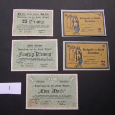 Lot 5 bucati notgeld ITZEHOE si ISERLOHN diferite Germania aUNC/XF #1, Europa