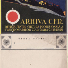 Basarabia, Moldova - Gara Chisinau- tema gari, cai ferate- rara - Carte Postala Moldova 1904-1918, Circulata, Printata