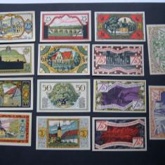 Lot  14  bucati  notgeld  ZEULENRODA  diferite  Germania  1921  aUNC, Europa