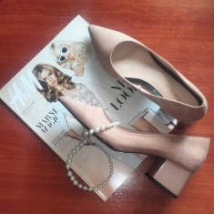 Pantofi cu toc Zara - Pantof dama Zara, Culoare: Roz, Marime: 39