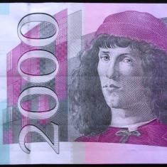 Bancnota 2000 EURO GERMANIA: Giesecke & Devrient ---- PROBA BANCARA *cod 170 - bancnota europa