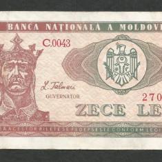 MOLDOVA 10 LEI 1992 [14] P-7, VF - bancnota europa
