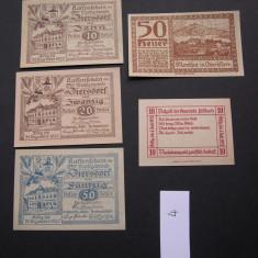 Lot 5 buc. notgeld, gutschein, kassenschein ZIERSDORF, EDLBACH, MONDSEE  aUNC, Europa