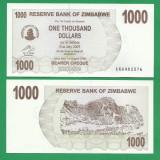 = ZIMBABWE 1000 DOLLARS 2006 P-44 UNC  =
