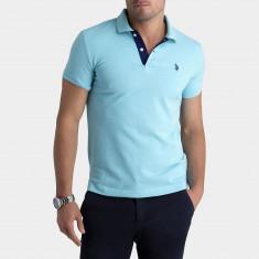 Tricou Polo US POLO ASSN - Tricouri Barbati - 100% AUTENTIC - Tricou barbati Tommy Hilfiger, Marime: S, M, Culoare: Albastru, Maneca scurta, Bumbac