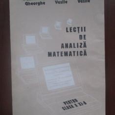 Lectii de analiza matematica pentru clasa a XI-a-Tiful Vasile, Dumitreasa Gheorghe