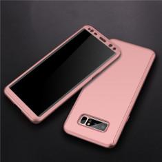 Samsung Note 8 - Husa 360 Plastic Rose Fata Spate Si Folie Silicon - Husa Telefon, Roz, Carcasa