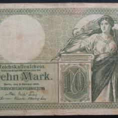 Bancnota istorica RARA 10 Marci- GERMANIA, anul 1906 * cod 236 - bancnota america
