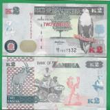= ZAMBIA 2 KWACHA 2012 P-49 UNC   =