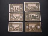 Lot  6  buc.  notgeld,  gutschein HUSBY in ANGELN  diferite Germania aUNC 1921