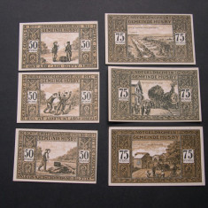 Lot 6 buc. notgeld, gutschein HUSBY in ANGELN diferite Germania aUNC 1921, Europa