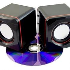Mini sistem audio  pentru Calculator, Laptop, iPod, Mp3, Mp4,Tel. Mobil, Etc.
